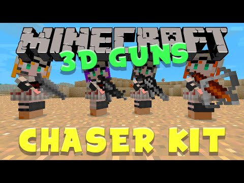 3D GUNS IN MINECRAFT (GunColony)Chaser Kit Review!