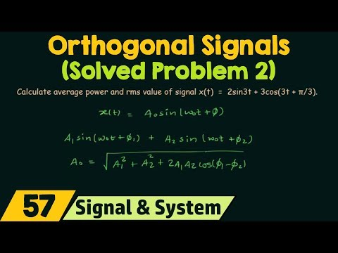 Orthogonal Signals (Solved Problems 2)