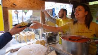 Italian Street Food: Delicious Freshly Handmade Tagliatelle by Crazy for Pasta in London.