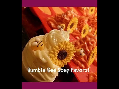 Making Bumble Bee Soap Party Favors!