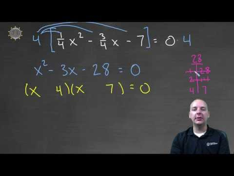 Quadratic Equation with Fractions