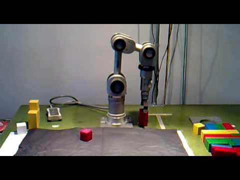Katana Arm robot build  a tower