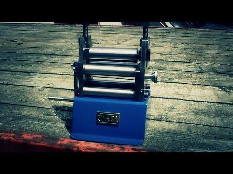 Homemade plate roller bench