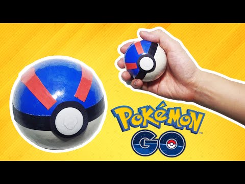 Simple Life hack - How to make a Pokeball (Great Ball) - tutorial
