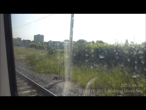 Stansted Express Class 379 Train ride Stansted Airport London Liverpool Street