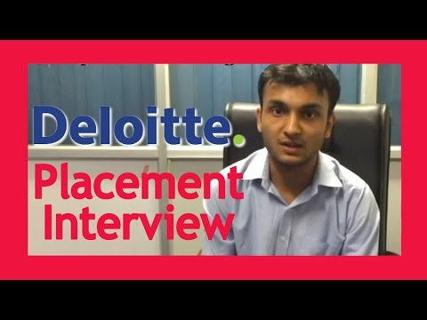 Placement interview question- Deloitte Interview