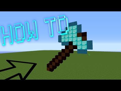 Minecraft : How To Make A Diamond Axe Pixel Art /W Killerkev