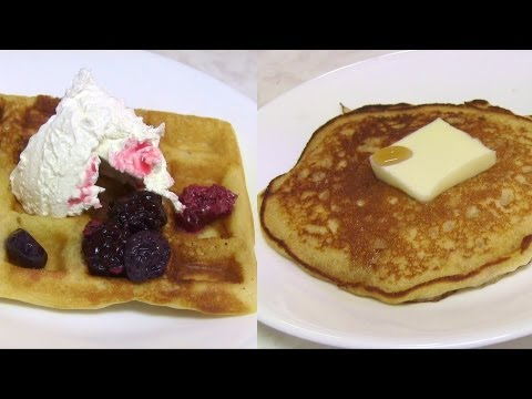 Eggless Pancakes & Waffles with Oatmeal - Video Recipe