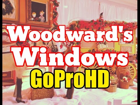 Woodward's Windows Christmas Display New (GoPro HD) - Vancouver Tourist Attraction