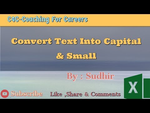 How To Change Case of Text in Excel  || Convert Text In UPPER, LOWER & PROPER Case in Excel