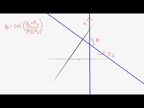 How to find the Angle between two vector planes