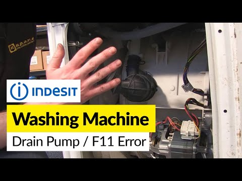 Indesit Washing Machine  Pump Replacement and F11 Error