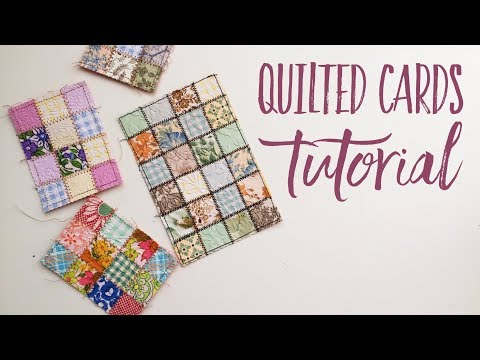 DIY Quilted Card Tutorial | Easy Quilted Paper | Using Your Scraps || & Printable