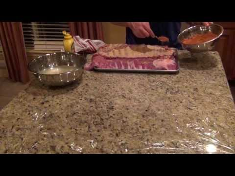 How to apply rub to ribs
