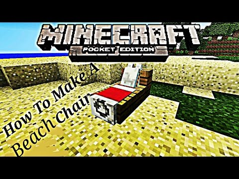 How To Make A Beach Chair in Minecraft PE-Malay Version