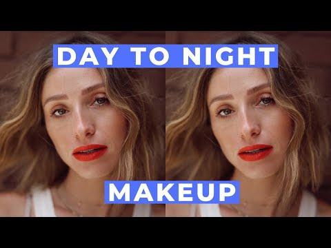 EASY DAY TO NIGHT MAKEUP | MAC RUBY WOO RED LIPSTICK