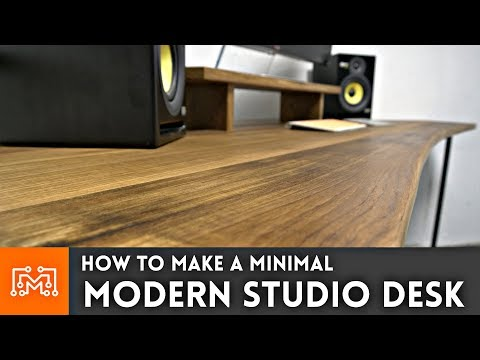 How to make a modern studio desk // Woodworking & Metalworking
