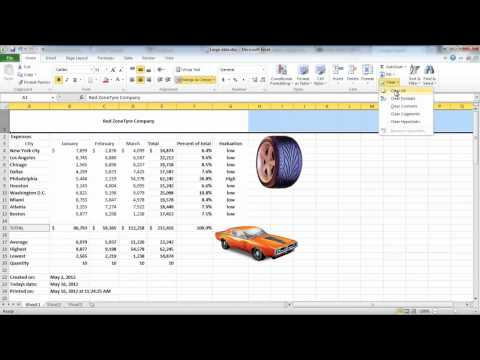 How to Add pictures and shapes in Excel 2010
