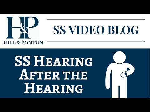 SS - After the Hearing