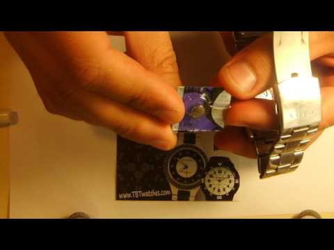 How to replace a watch battery on a Guess Men's watch Model G95374G