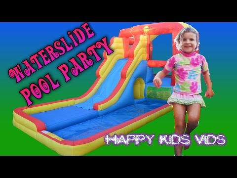 Water Playground and Fun Slide Bouncy Castle Ep 1