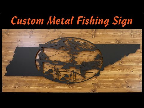 Custom Metal Tennessee Fishing Sign