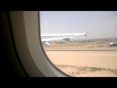 Take off from Najaf Airport الأقلاع من مطارالنجف