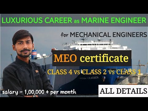 MEO CLASS 4 , 2 ka 1 |MARINE ENGINEER OFFICER COC| ELIGIBILITY, EXAM PATTERN & MORE