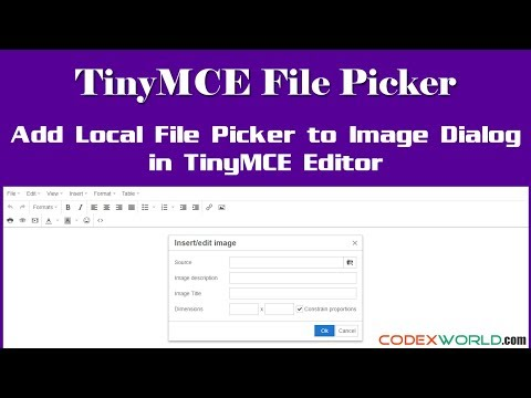 Add a Local File Picker to Image Dialog in TinyMCE