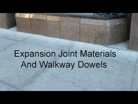 Control Joints, Rebar Dowels or Expansion Joint Materials for Sidewalk Next to Building