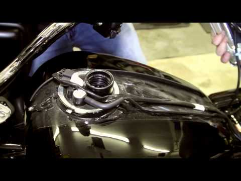 Part 3 ARC Audio MPAK Series  Exposing the Wiring and the Battery on a Harley Davidson