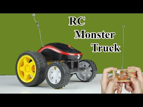 How To Make RC Monster Truck from Computer Mouse and Motor DC  - Diy Toy Car With Mr H2