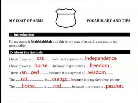 My Coat of Arms Vocabulary and Tips