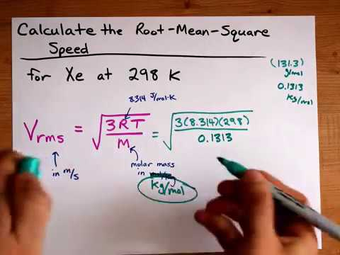 Calculate v_rms (Root-Mean-Square Speed) for a Gas Particle