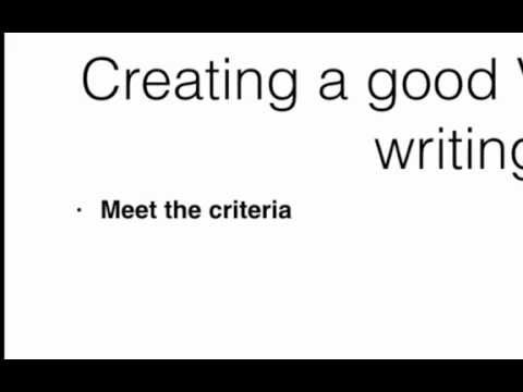 How to create a good piece of writing for VCE