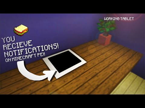 Minecraft, MCPE | How to make a Working Tablet