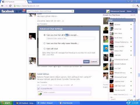 Facebook Appear offline or online to certain friends