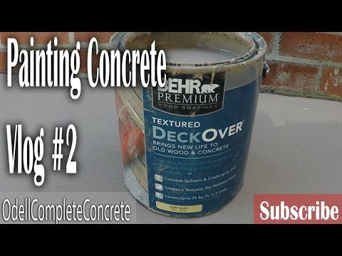 How to Paint Over Concrete Using DeckOver Vlog #2