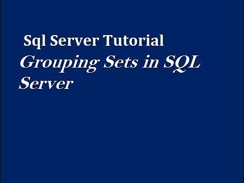 GROUPING SETS Clause in SQL Server