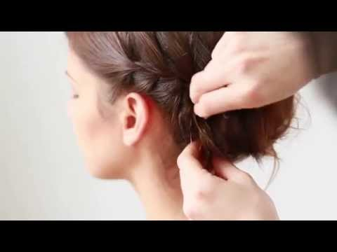 5 Quick & Easy Bridesmaid Hairstyles - #5 French Braid Chignon