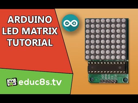 Arduino tutorial: LED Matrix red 8x8 64 Led driven by MAX7219 (or