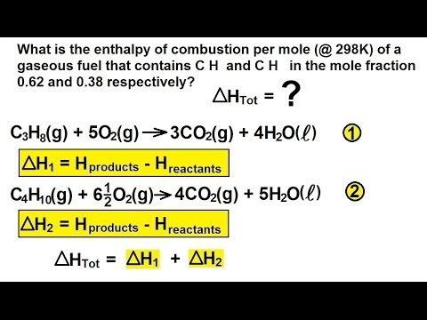 Chemistry - Thermochemistry (7 of 37) Enthalpy: Example 3 (Combustion of Propane)