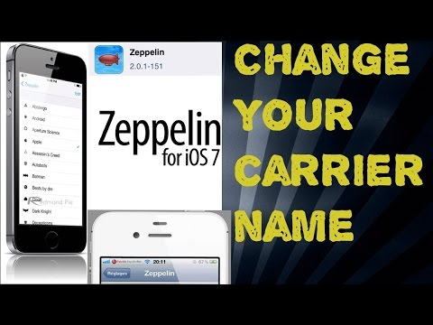 How to change carrier name with text or image.(Zeppelin/jailbreak required)