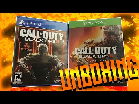 Call Of Duty Black Ops 3 Unboxing PS4 Xbox One Hardened Edition