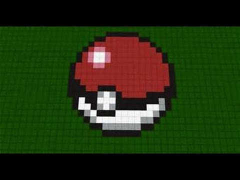 Minecraft How To Build - Pokeball