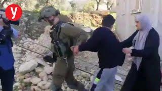 """תיעוד מעצר טארק שתיווי הפגנה קדום קלקיליה שומרון חיילים צה""""ל"""