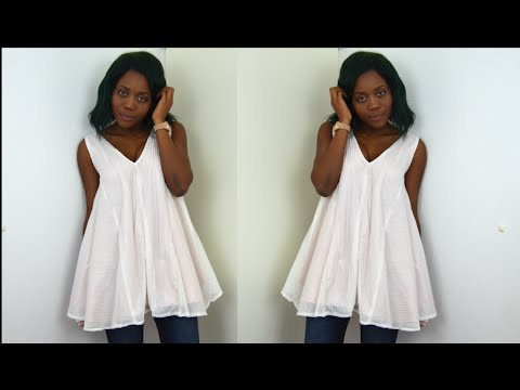 DIY// How To Make A Flared Dress/Blouse