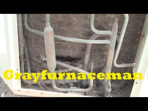Service the air conditioner clean condenser.  part 4