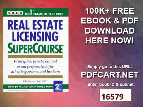 Real Estate Licensing Supercourse Arco Real Estate Licensing Supercourse