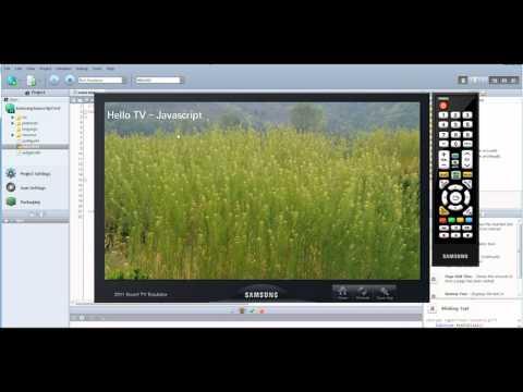 Samsung SmartTV - Developing Javascript based apps using the Samsung SDK